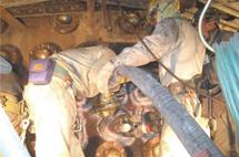 鍋煉瓦補修工事