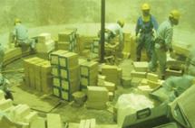 混銑車煉瓦補修工事